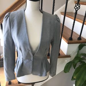 H&M Grey fitted blazer, peplum flare